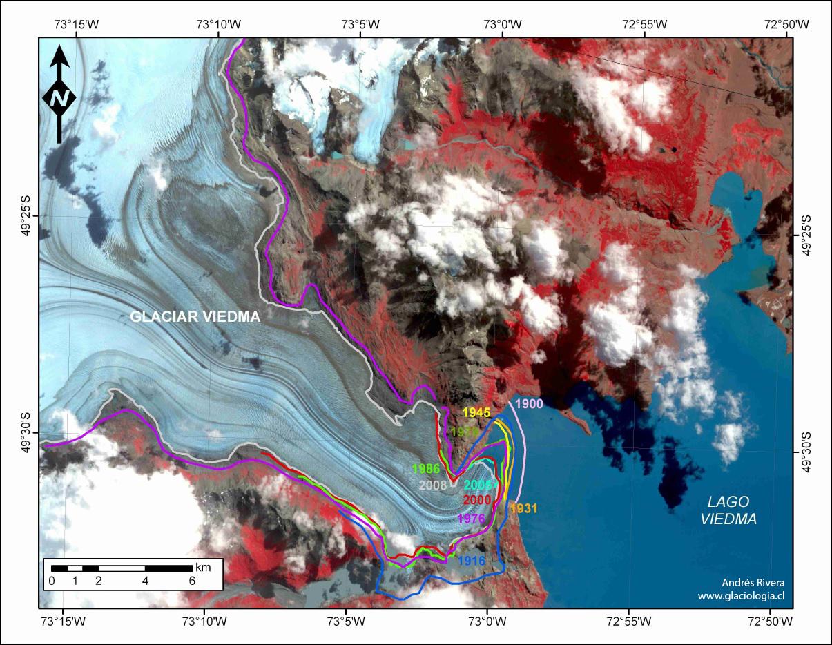 Viedma Glacier relapse history
