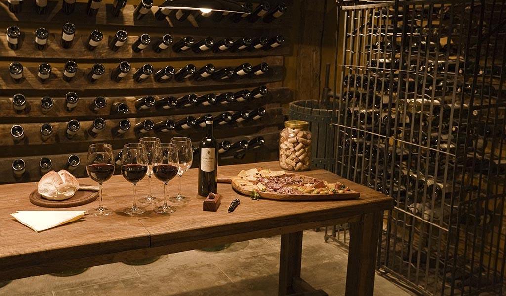 Wine cellar at Estancia Villa María