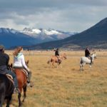 Horseback riding at Estancia Rio Mitre