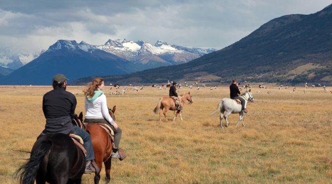 Horseback riding at Estancia Rio Mitre