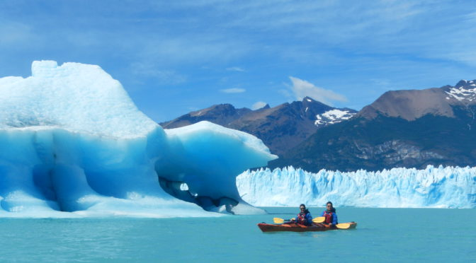 Kayaking into the Perito Moreno