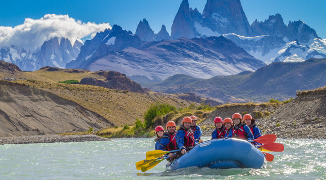 RAFTING ADVENTURE OVERLOOKING MT. FITZ ROY